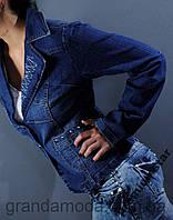 Пиджак джинсовый женский с вышивкой