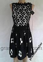 Платье 44р нарядное летнее с кружевом