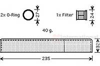 Осушитель кондиционера toyota (производство VAN WEZEL ), код запчасти: 5300D349