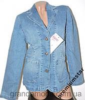 Джинсовый пиджак  женский 50р