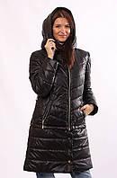 Стильная женская демисезонная куртка Sanni черная 42-52 размеры