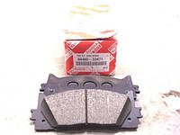 Колодки тормозные передние, комплект (производство TOYOTA ), код запчасти: 0446533471