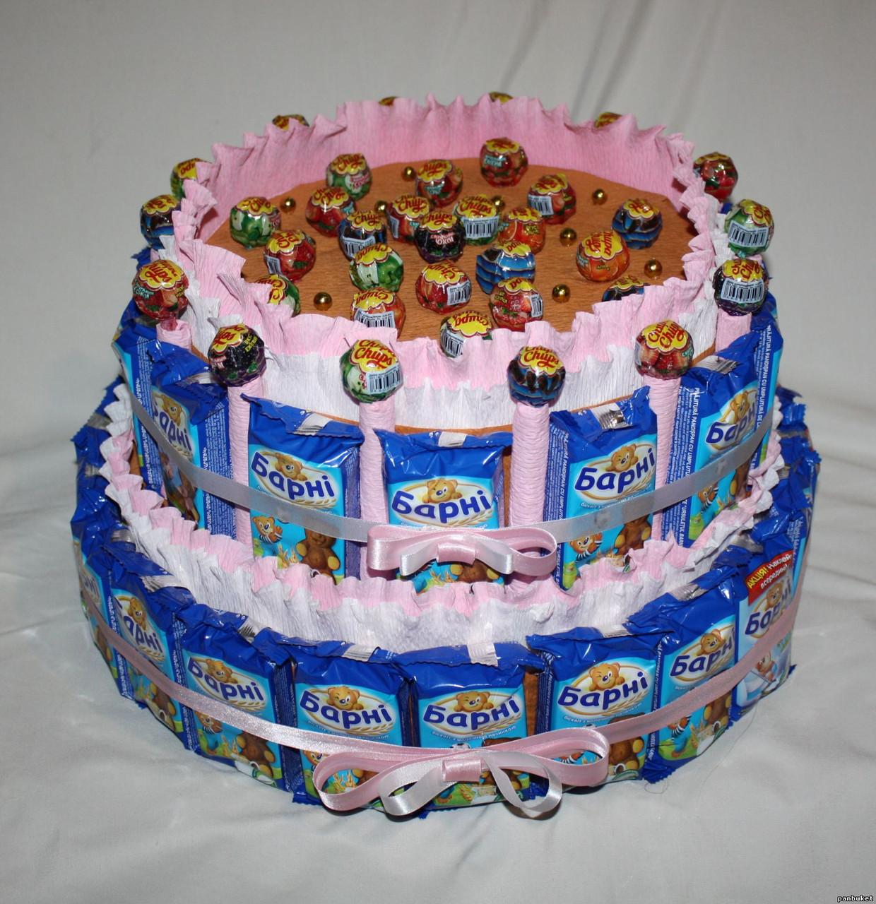 Детские торты из барни и сока своими руками