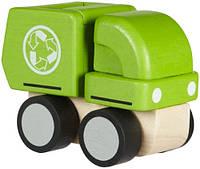 Деревянная игрушка Plan Тoys - Мини-мусоровоз