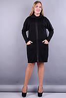 Таша. Платья больших размеров. Черный., фото 1
