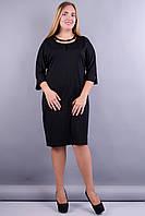 Дюна. Платья больших размеров. Черный., фото 1