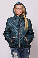 Женская демисезонная стеганная  куртка  ПС-1 бирюзовая  54-66 размеры
