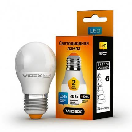 Светодиодная лампа LED 5W 3000K E27 VIDEX (G45e-05273), фото 2