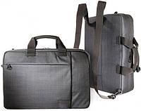 """Деловая сумка-рюкзак для ноутбука до 16"""" Tucano SVOLTA CONVERTIBLE BAG PC (BLACK) BSVO15DZ черный"""