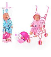 Кукла-пупс (типа пупс Baby Born) с аксессуарами и коляской RT07-02