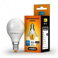 Светодиодная лампа LED 5W 4100K E14 VIDEX (G45e-05144)