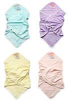 Детское полотенце с капюшоном для купания