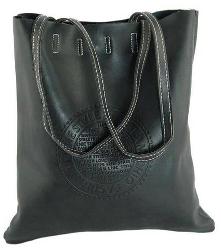 Сдержанная женская сумка из искусственной кожи 7240-17 черный