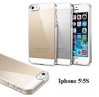 Силиконовый чехол Apple iPhone 5,5S (прозрачный)