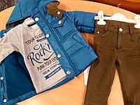 Комплект демисезонный для мальчика (курточка+штанишки+батник)