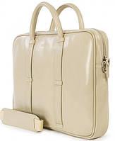 """Элегантная женская сумка для ноутбука 15"""", натуральная кожа Tucano ELLE BAG MB PRO (IVORY) BEL15-IY айвори"""