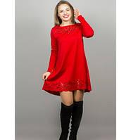 Женское платья Лучия цвет красный размер 46-52