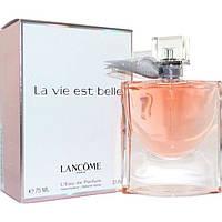 Женская парфюмированная вода Lancome La Vie est Belle L'Eau de Parfum (Ланком Ла Ви Эст Бель Лью де парфюм) 75