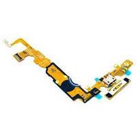 Шлейф для LG P710 Optimus L7 2/P713 с разъемом зарядки, кнопкой Меню (Home), подсветкой сенсорных кнопок, микр