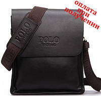 Мужская кожаная фирменная сумка POLO Поло