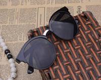 Солнцезащитные круглые очки cat eye