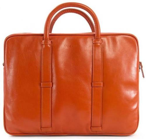 """Яркая женская сумка для ноутбука 15"""", натуральная кожа Tucano ELLE BAG MB PRO (ORANGE) BEL15-O оранжевый"""