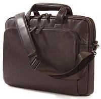 "Мужская эффектная сумка для гаджетов до 15"" Tucano One Premium Slim case Atelier (Brown) BFOMP15-M коричневый"