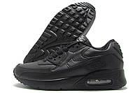 Кроссовки женские Nike Air черные c тремя баллонами (найк)