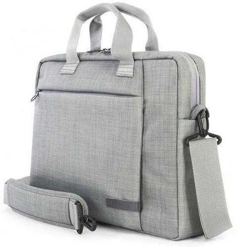 """Универсальная деловая сумка для ноутбука Tucano SVOLTA SLIM BAG PC 11.6""""/12.5"""" (GREY) BSVO1112-G серый"""