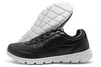Кроссовки мужские Ecco ЕС черные с белой подошвой (экко)