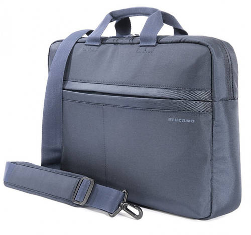 "Прочная сумка для ноутбука Tucano TRATTO M BAG PC 15.6"" (BLUE) BTRA15-B синий"
