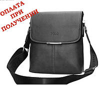 Сумка рюкзак мужская кожаная не большая бренд POLO