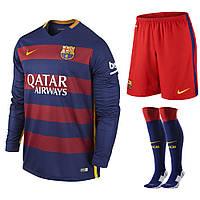 Футбольная форма с длинным рукавом  Nike FC Barcelona  2015-16