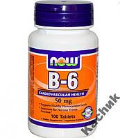 Витамин В-6, 100 таблеток, Now Foods (USA)