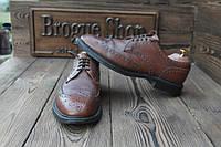Мужские  туфли броги с Европы,  29 см, 44 размер.