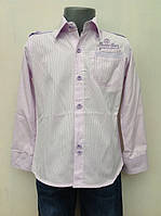 Нарядная рубашка для мальчиков Лиловая