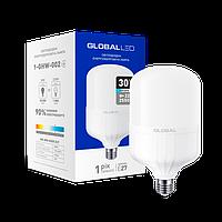 Лампа светодиодная (ВЫСОКОМОЩНАЯ) GLOBAL 30W 6500K E27 холодный свет (1-GHW-002)