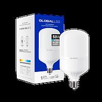 Лампа светодиодная (ВЫСОКОМОЩНАЯ) GLOBAL 50W 6500K E27/E40 холодный свет(1-GHW-006-3)