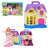 Кукольный домик с куклой и платьями