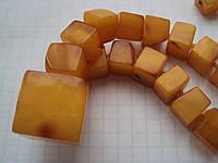 ШИКАРНЫЕ королевские янтарные бусики  39 грм