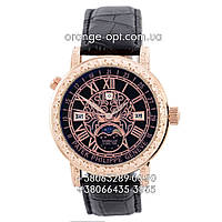 Часы Patek Philippe Sky Moon Tourbillon black/gold/black Класс ААА