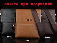 Мужская кожаная брендовая сумка Polo (9013) NEW!!!
