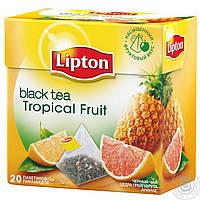 """Фруктовый чай в пирамидках Lipton """"Тропические фрукты"""", 20шт"""