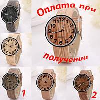 Часы наручные унисекс, женские, дерево