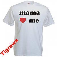 Детская футболка с надписью mama love me 100% хлоп