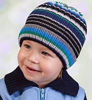 Головной убор для мальчиков Синий Осень 50-54 см 3-002508 Tutu Польша