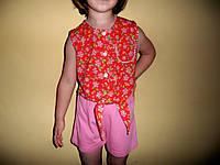 Летний комплектик на девочку 3-4лет-блуза и шорты