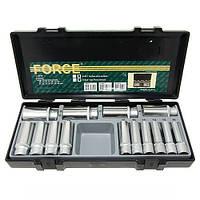 """1/2"""" Набор головок 6-гр. глубоких 14 пр. (10-32 мм) FORCE 4143"""