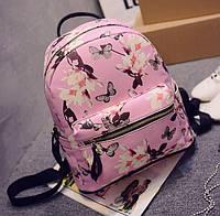 Стильный рюкзак - Цветы и Бабочки