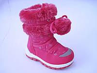 Детские теплые сапожки - дутики для девочки, размер 23-28